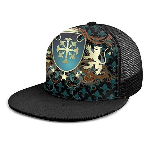 Gorra de béisbol Edad Media Corona Leones Remolinos Gorras de béisbol ajustables Unisex Hip Hop Snapback Sombreros planos