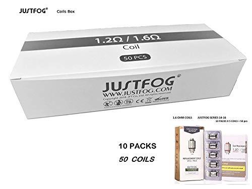 Justfog Resistenze Di Ricambio 1.6 Ohm 50 Pz Q16, P16A, Q14, P14A, G14, C14, Q16C, Q16pro (No Nicotina)