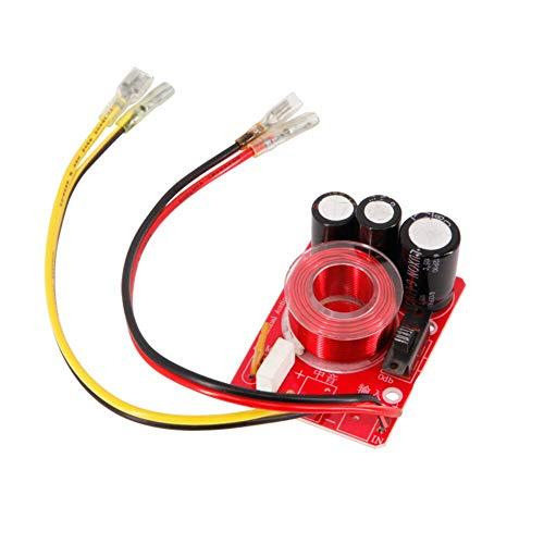 WNJ-TOOL, 2 stücke Audio-Lautsprecher Mediant Crossover 80W 4-8OHM Pure Midrange Frequenzteiler Einstellbare Frequenz Auto Lautsprecher DIY (Farbe : with line)