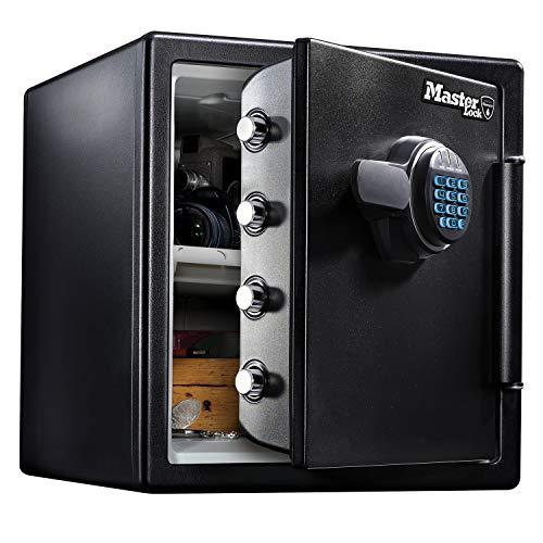 MASTER LOCK Tresor [Feuer- und Wasserfest] [33,6L] [elektronische Kombination] – LFW123FTC – Für Ausweise, A4-Dokumente, Laptop, Schmuck