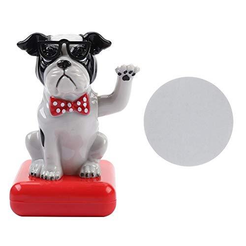 FTVOGUE nieuw op zonne-energie aangedreven Moving Toy Swing hoek hondenfiguur speelgoed kinderen verjaardagscadeau auto decoratie tafel ornament