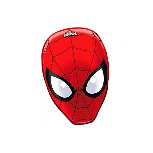 Procos 81535 Masques Papier Ultimate Spider Man, 6 pièces, Rouge