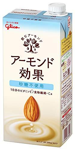 グリコ アーモンド効果 砂糖不使用 アーモンドミルク 1000ml×6本 常温保存可能