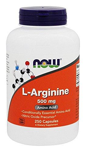 Now Foods L-Arginine 500 milligrams, 250 Capsules