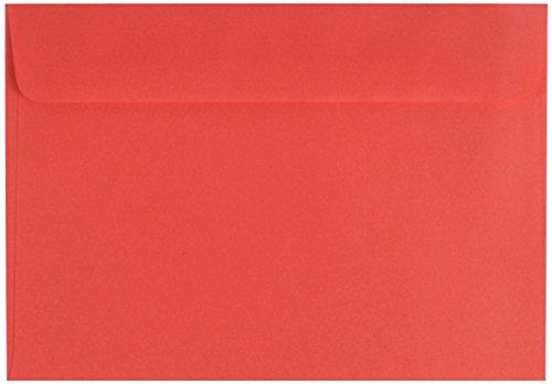 100 farbige Briefumschläge / Din C6 / Farbe: rot