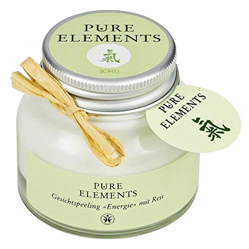 Pure Elements Naturkosmetik | Chi Gesichtspeeling - Energie mit Reis | Reine Naturkosmetik im Glasbehälter | 50 ml