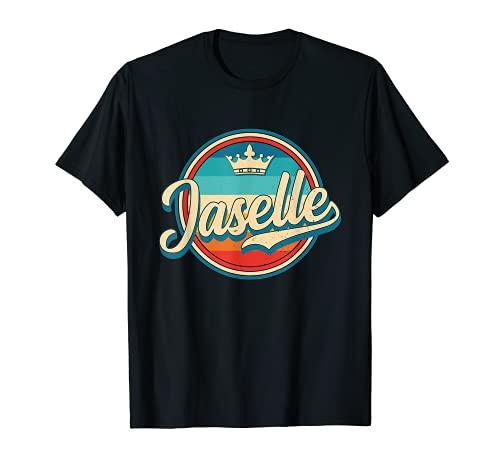 Jaselle nome retrò divertente vintage nome Jaselle Maglietta