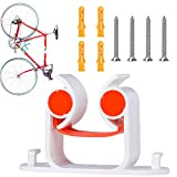 3UMeter Bike Clip, Bicycle Parking Clip, Road Bike Rack Clip, Indoor Outdoor Stand Display Tool Kit, Wall Mount Hook Bicycle Parking, Parking Frame for Road Bikes (R - Orange)