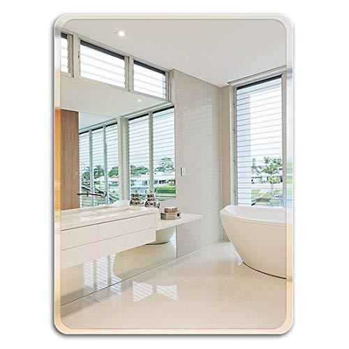 XQAQX make-upspiegel met vergrotingsspiegel, rechthoekig, badkamerspiegel, make-upspiegel, badkamerdecoratie – wit