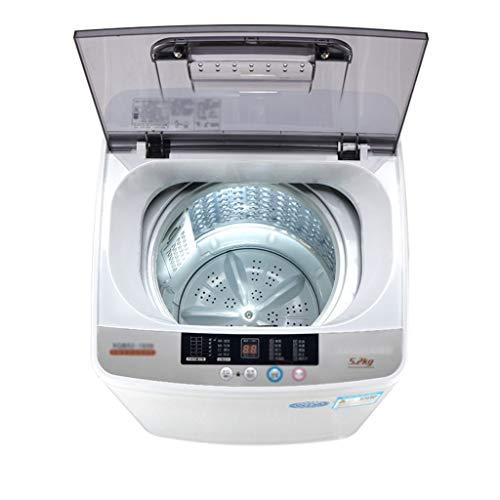 Lave-linges Machine À Laver Automatique Petite Machine À Laver Domestique Maison Sèche-Linge Capacité 5,2 Kg (Color : Silver, Size : 56.6x47.1x78cm)