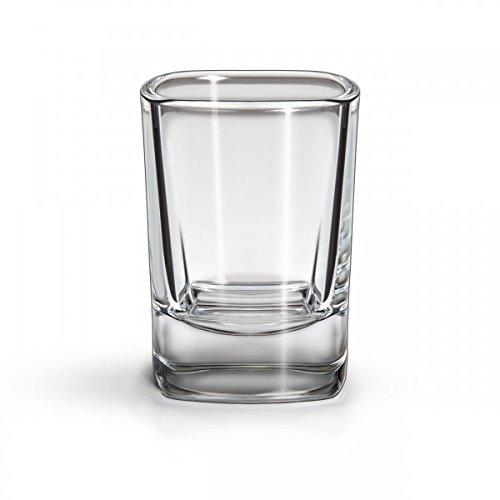 SIXBY Schnapsgläser 4cl VIVA Shot, quadratische Form (12 Stück)