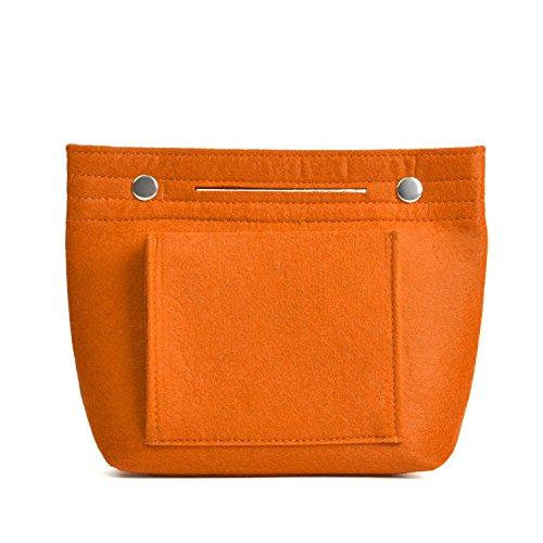 NOTAG Organizer Filz Taschen Innentaschen Für Handtaschen Make Up Tasche Filz Kleine LeichteTaschenorganizer Handtasche (Orange)