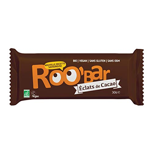 Roobar Barretta 100% Cruda, Cacao - Confezione da 10 Pezzi