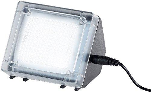 VisorTech Fernsehatrappe: TV-Simulator zur Einbrecher-Abschreckung, 20 flackernde LEDs, Netzteil (Fernsehlicht)