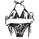 Retrato Decorativo para Mujer Perro Labrador Retriever Conjunto de Bikini de Dos Piezas para Mujer Traje de baño de Dos Piezas con Relleno Superior con Tiras