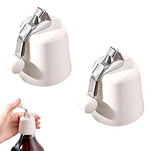 XFSSFWB Sellador de Botellas Ahorrador de Vino Reutilizable de Alta Gama, Tapones de vacío manuales de Silicona para Botellas de Bebidas Mantiene Fresco 2 Paquetes