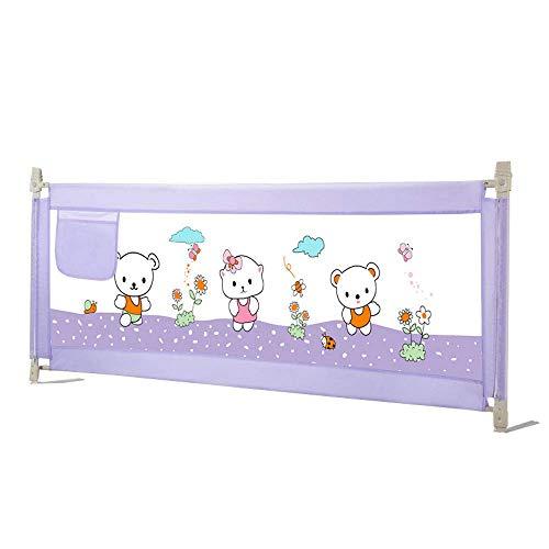 WYJW Sicherheits-Babyschutzgitter, höhenverstellbar (68 bis 92 cm) - Bettgitter, Sicherheitsschutzgitter, Anti-Fall-Bettschutzgitter für Kleinkinder, Babys und Kinder