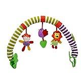 Juguete Suave Cochecito De Bebé Play Arch Colgante Arco Iris con Clip De Peluche para Calmar La Muñeca Sensor Sensor Travel Pram Actividad Bar Colgando Juguete