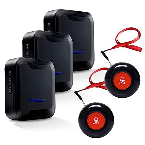 Botón de Llamada Emergencia Inalámbrica Sistema de Alarma Hogar Buscapersonas del Cuidador para el Paciente Personal de Edad