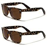 Retro Rewind Classic Polarized Sunglasses 2-Pack Tortoise