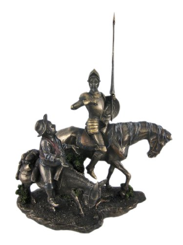 StealStreet 13.75-Inch Bronzehued Don Quixote and Sancho Panza on Horses Figure by StealStreet (Home)