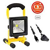 10W LED Work Light Rechargeable Battery Floodlight Waterproof Spotlight Outdoor Camping Travel Lamp
