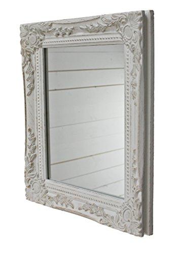 32x27x3cm rettangolo Parete specchio, Annata-Antico-cornice...
