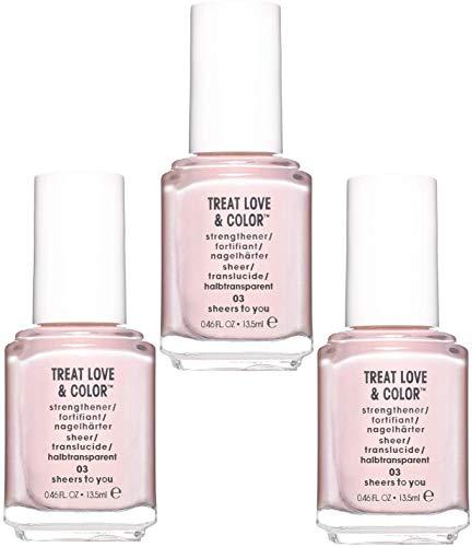 Essie Treat Love & Color Nagelpflege - schiere dir 03, 13,5 ml, 3er-Set (3 x 13,5 ml)