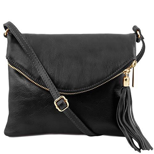 Tuscany Leather TL Young Bag Borsa a tracolla con nappa Nero