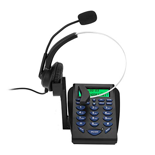 Topiky Call Center Phone, Business Office Teléfono Multifuncional Teclado de marcación Teléfono de tráfico y Auriculares con FSK/DTMF Función de visualización de identificación de Llamadas
