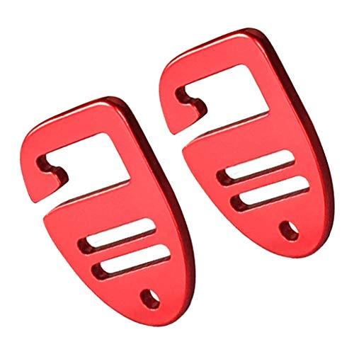 perfeclan 2 Packungen G Haken Gurtband Schnalle Leichte Hängekarabiner Clip Haken Rot
