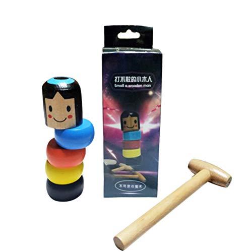 Brinquedo de madeira Immortal Magic Little Wooden Man Toy Tricks Close Up Stage Adereços Engraçado Presente para Crianças