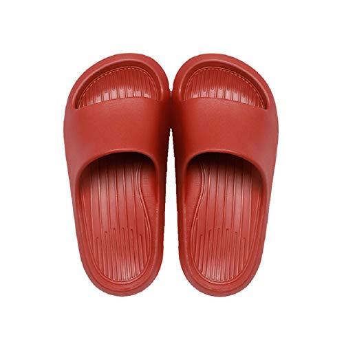 posee Farbenfreudig Badelatschen Damen Herren EVA Badeschlappen Sommer Dusch&Bade Hausschuhe für Drinnen und Draußen FBA-Rot EU 39