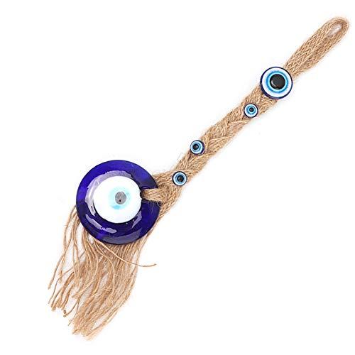 Fishlor Amuleto de Cristal Turco, Colgante, Ornamento de la Pared del Mal de Ojo Malvado Turco, para la decoración del hogar para Colgar en la Pared