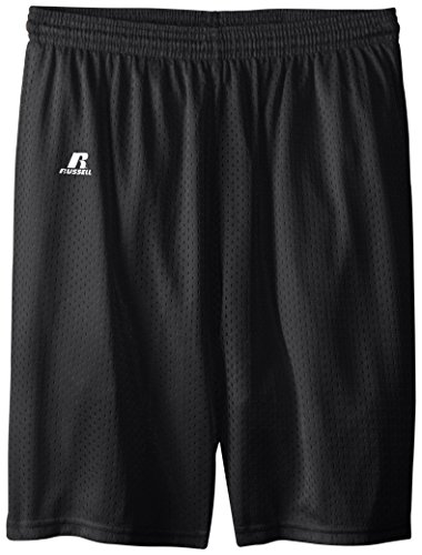 Russell Athletic Big Boys' Youth Mesh Short, Black, Medium