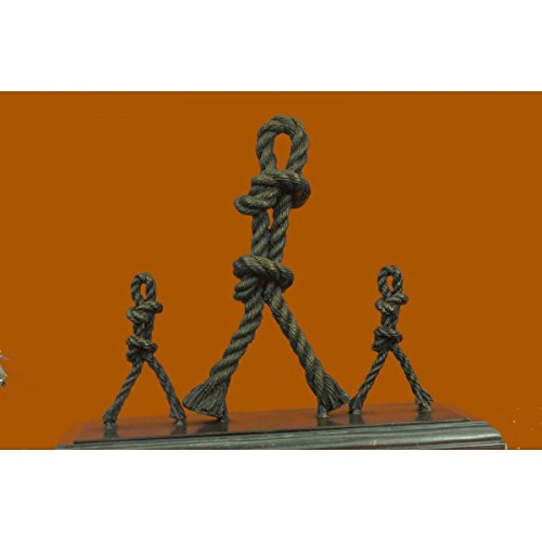 Price comparison product image Charming Signed Original French Artist Jean Patoue Dancing Ropes Bronze Sculpture Statue