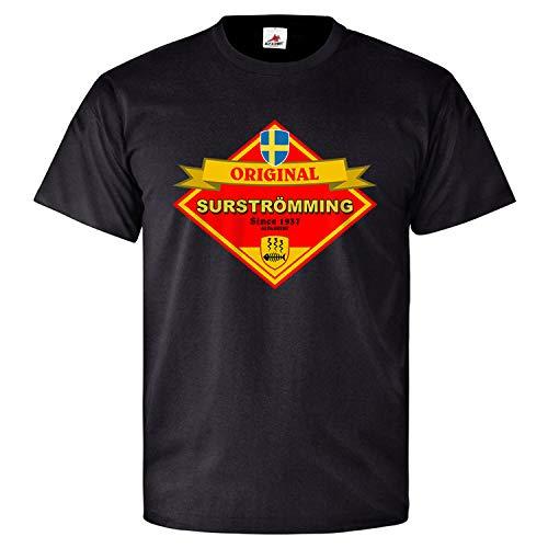 Surströmming Gammel Fisch Schweden Saurer Hering faulig - T Shirt #25789, Größe:XL, Farbe:Schwarz