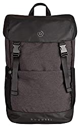 Bugatti Universe Backpack Men's Work Large - High Quality Men's Daypack - Business Workpack Everyday Backpack, Black