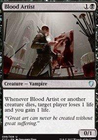 Magic The Gathering Blood Artist Artista Sanguinario - Commander 2017