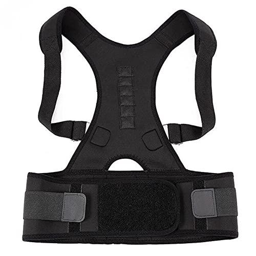 FGHD Corrector Postura Back-Support Vendaje Hombro Corsé Atrás Soporte Postura Corrección Cinturón 709 (Color : Black, Size : S)