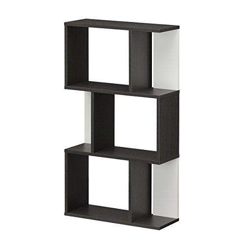 【Amazon.co.jp限定】白井産業 ディスプレイラック 約 幅60 奥行24 高さ108 cm 本 棚 bookshelf ブラック (KI2-1160 BO キアエッセ2)