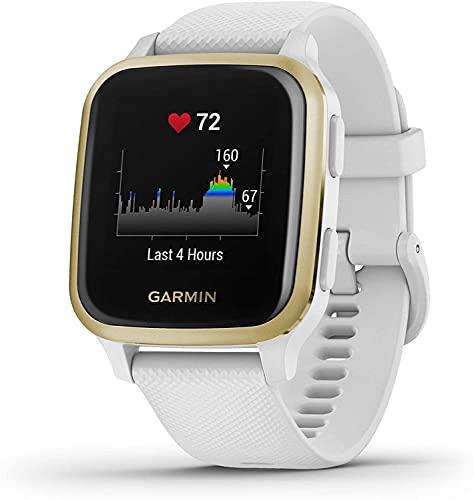 Garmin Venu Sq, Smartwatch GPS Sport con Monitoraggio della Salute e Garmin Pay, Bianco (Bianco Oro)