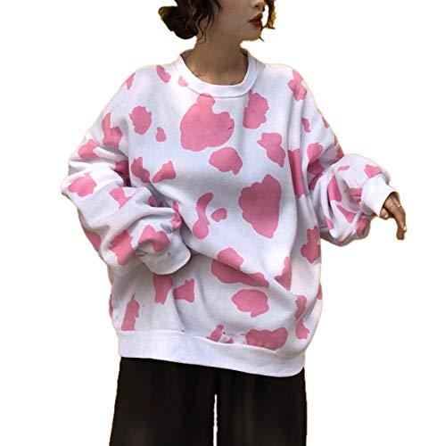[ Big laugh (ビッグラフ) ] パーカー トレーナー トップス 牛柄 可愛い オシャレ ゆったり カジュアル 私 ストッキング 短パン 風 ショルダーバッグ テープ ダンジョン グローブ キツメ プレゼント 綺麗め ジョギングシューズ マット