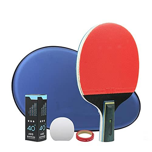LINGOSHUN Raquetas de Ping Pong,Esponja de Alta Elasticidad,Paleta de Ping Pong Profesional para el Jugador que Desea Mejorar su Juego de Tenis de Mesa / 1 Pack/Short handle