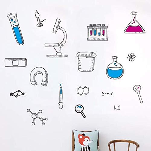 PVC DIY Für Aufkleber Mikroskop Wissenschaft Wissenschaftler Chemie Schule labor Vinyl Wandaufkleber wohnkultur für kinderzimmer schlafzimmer wohnzimmer