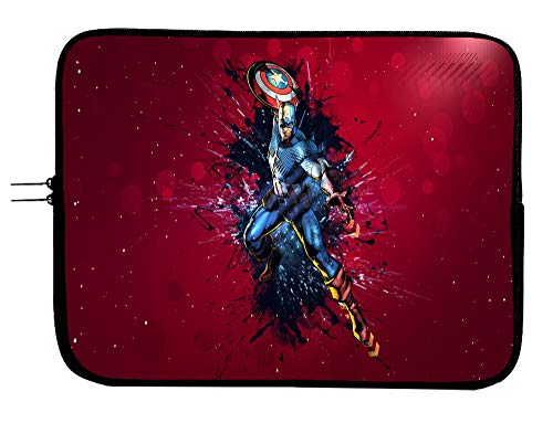 Brand3 15 Inch Captain America Laptop Sleeve Bag Laptop Case Mousepad Surface MacBook Pro/MacBook Air Sleeve Case - Water Repellent Neoprene Case
