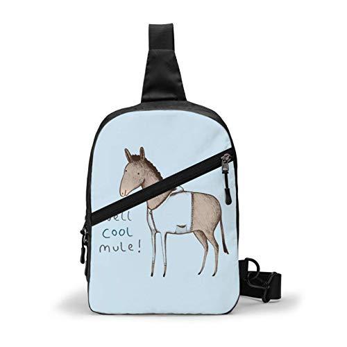 Hdadwy Sling Backpack Crossbody Chest Bag Well Cool Mule Shoulder Bag for Men Women Outdoor Travel