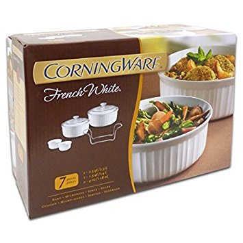 CorningWare French Bakeware Set, White (7 piece set 2)