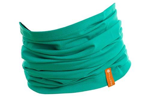 Halstuch aus Baumwolle, Multifunktionstuch, Schlauchtuch, Bandana, Geschenk für Frauen und Männer, Farbe/Design:Minze