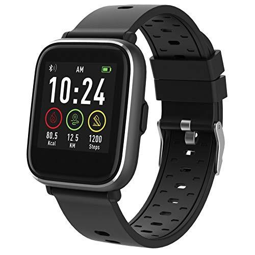 Denver Bluetooth-Smartwatch mit Herzfrequenzsensor Schwarz SW-161